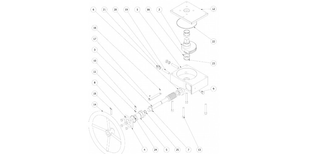 Attuatore Rack & Pinion ad azionamento manuale